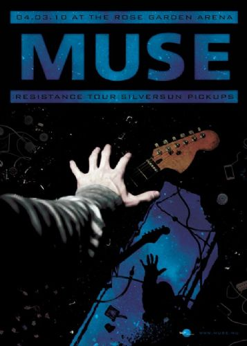 MUSE - LIVE CONCEPT ART BLUE canvas print - self adhesive poster - photo print